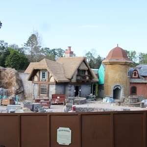 1 of 4: Fantasyland - New Fantasyland restroom area construction