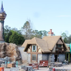 2 of 4: Fantasyland - New Fantasyland restroom area construction