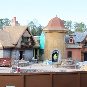 3 of 4: Fantasyland - New Fantasyland restroom area construction