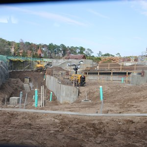 3 of 15: Fantasyland - Seven Dwarfs Mine Train coaster construction