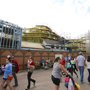 8 of 15: Fantasyland - Seven Dwarfs Mine Train coaster construction