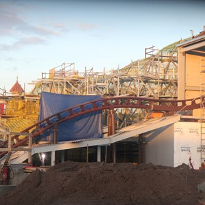 1 of 4: Fantasyland - Seven Dwarfs Mine Train coaster construction