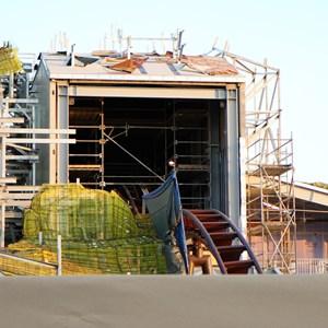 2 of 4: Fantasyland - Seven Dwarfs Mine Train coaster construction