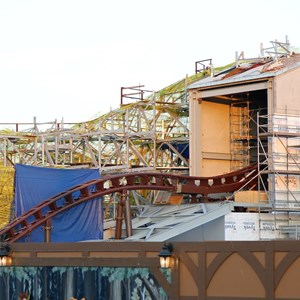 3 of 4: Fantasyland - Seven Dwarfs Mine Train coaster construction