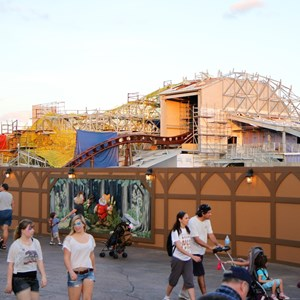4 of 4: Fantasyland - Seven Dwarfs Mine Train coaster construction