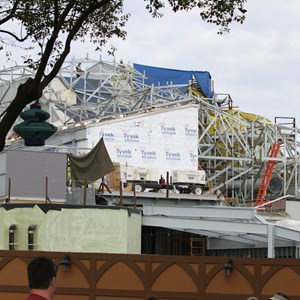 4 of 18: Fantasyland - Seven Dwarfs Mine Train coaster construction