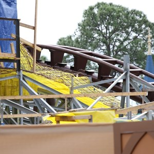 11 of 18: Fantasyland - Seven Dwarfs Mine Train coaster construction