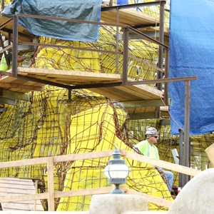 13 of 18: Fantasyland - Seven Dwarfs Mine Train coaster construction
