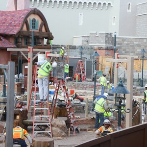 3 of 5: Fantasyland - New Fantasyland restroom area construction