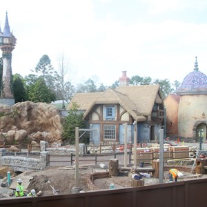 1 of 5: Fantasyland - New Fantasyland restroom area construction