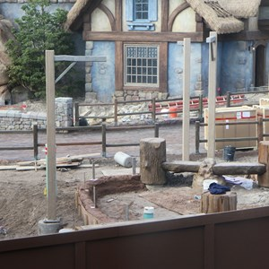2 of 5: Fantasyland - New Fantasyland restroom area construction