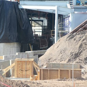 3 of 17: Fantasyland - Seven Dwarfs Mine Train coaster construction