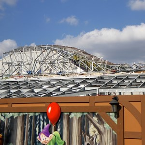 6 of 17: Fantasyland - Seven Dwarfs Mine Train coaster construction
