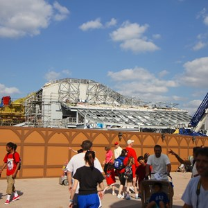 7 of 17: Fantasyland - Seven Dwarfs Mine Train coaster construction