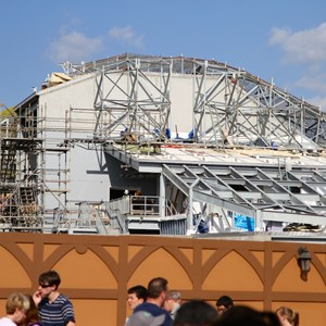 8 of 17: Fantasyland - Seven Dwarfs Mine Train coaster construction