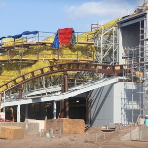 10 of 17: Fantasyland - Seven Dwarfs Mine Train coaster construction
