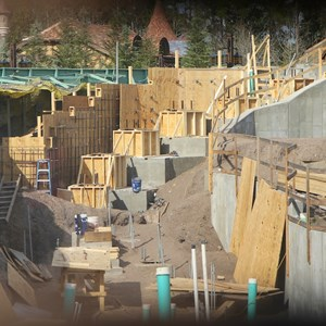 11 of 17: Fantasyland - Seven Dwarfs Mine Train coaster construction