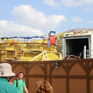 12 of 17: Fantasyland - Seven Dwarfs Mine Train coaster construction