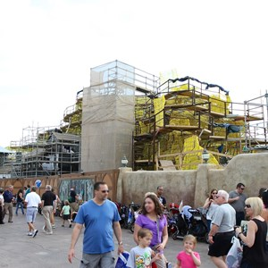 14 of 17: Fantasyland - Seven Dwarfs Mine Train coaster construction