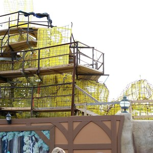 15 of 17: Fantasyland - Seven Dwarfs Mine Train coaster construction