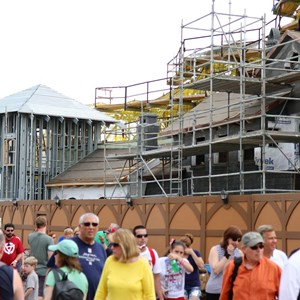 16 of 17: Fantasyland - Seven Dwarfs Mine Train coaster construction