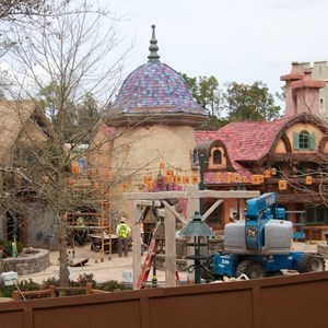 2 of 8: Fantasyland - New Fantasyland restroom area construction