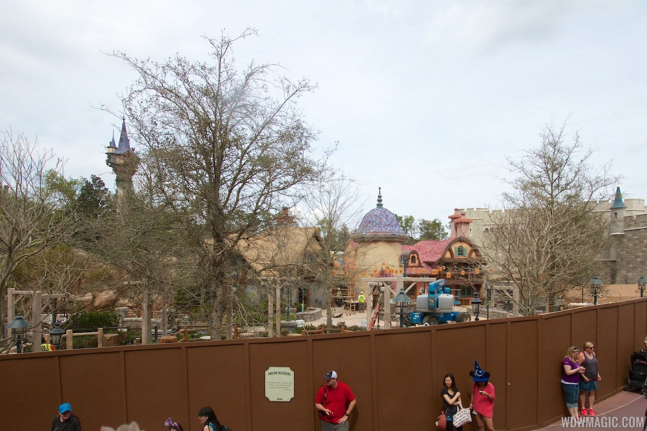 New Fantasyland restroom area construction