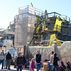 2 of 11: Fantasyland - Seven Dwarfs Mine Train coaster construction - trees arrive