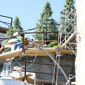 3 of 11: Fantasyland - Seven Dwarfs Mine Train coaster construction - trees arrive