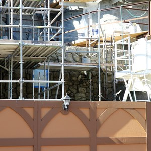 7 of 11: Fantasyland - Seven Dwarfs Mine Train coaster construction - trees arrive