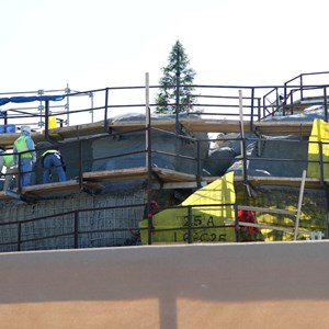 9 of 11: Fantasyland - Seven Dwarfs Mine Train coaster construction - trees arrive
