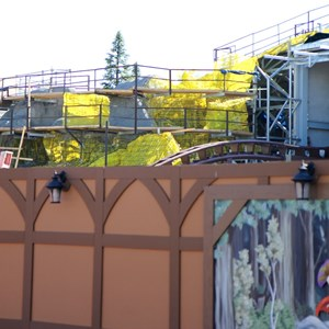 10 of 11: Fantasyland - Seven Dwarfs Mine Train coaster construction - trees arrive