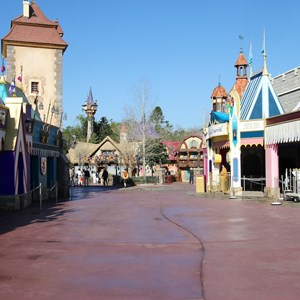 1 of 32: Fantasyland - The approach to the new restrooms from Fantasyland