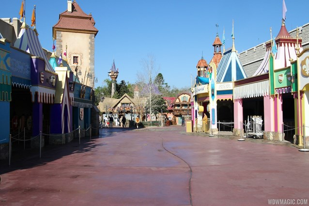 Fantasyland - The approach to the new restrooms from Fantasyland