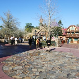 2 of 32: Fantasyland - An overview of the spacious walkway