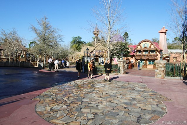 Fantasyland - An overview of the spacious walkway