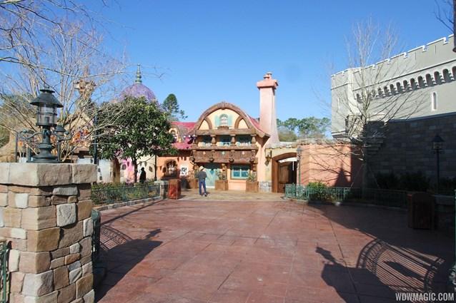 Fantasyland - The stroller parking area