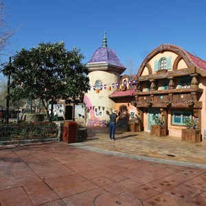 4 of 32: Fantasyland - Tangled restroom area opening day
