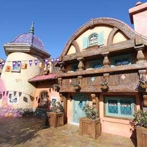 5 of 32: Fantasyland - Tangled restroom area opening day