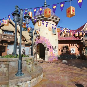 6 of 32: Fantasyland - Tangled restroom area opening day