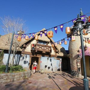 7 of 32: Fantasyland - Tangled restroom area opening day