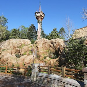 8 of 32: Fantasyland - Tangled restroom area opening day