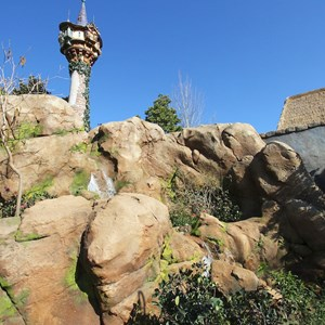 9 of 32: Fantasyland - Tangled restroom area opening day