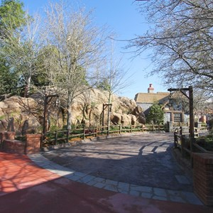 10 of 32: Fantasyland - The view from entering by the Haunted Mansion