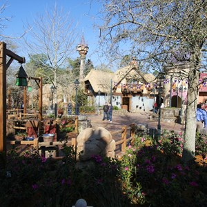 14 of 32: Fantasyland - Tangled restroom area opening day