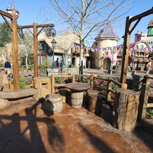 15 of 32: Fantasyland - Tangled restroom area opening day