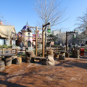 16 of 32: Fantasyland - Tangled restroom area opening day