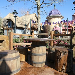 18 of 32: Fantasyland - Tangled restroom area opening day