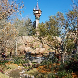 23 of 32: Fantasyland - Tangled restroom area opening day