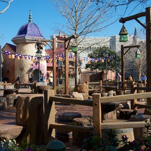 24 of 32: Fantasyland - Tangled restroom area opening day
